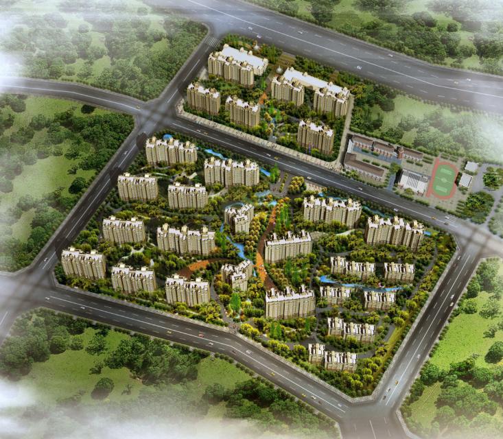 高层现代风格塔式住宅建筑设计方案文本