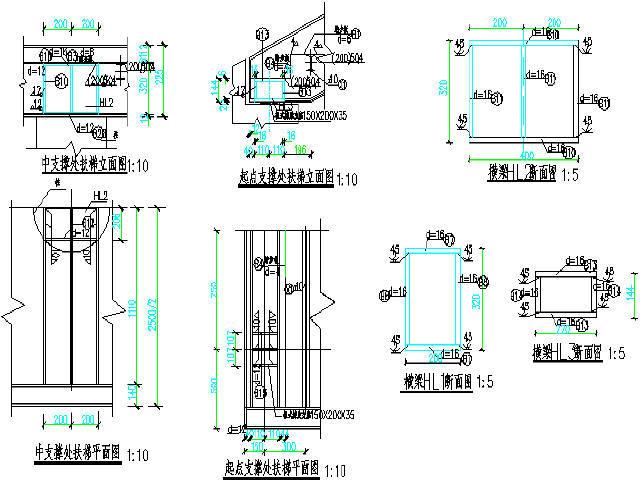 [山东]门式刚架结构人行天桥设计图附计算书
