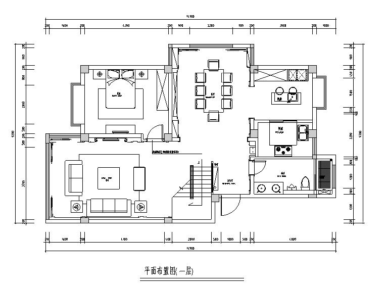 [江苏]新古典风格260平米联体别墅设计施工图(附效果图)