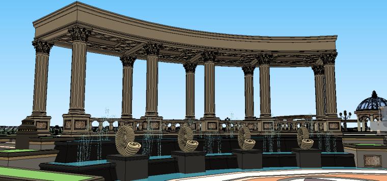 新古典主义居住区景观模型 5