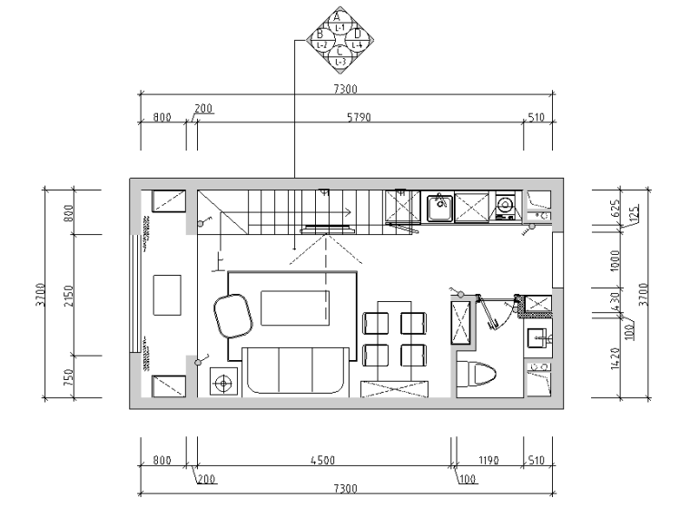 [内蒙古]波普流行风创意样板间设计施工图(附效果图)