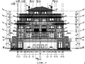 [万科]17栋联排式及独栋别墅建筑施工图合集