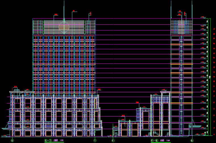 多功能高层综合商业办公楼建筑设计方案(CAD施工图)