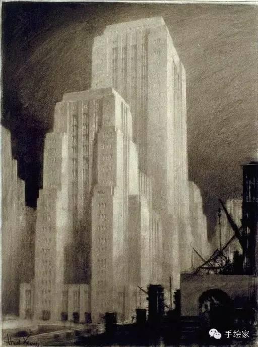 百年经典建筑设计手绘图_49