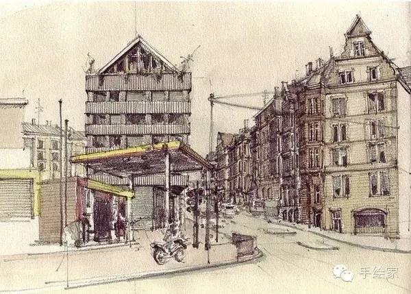 百年经典建筑设计手绘图_4