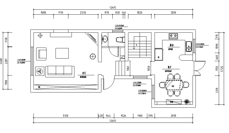 [江苏]现代欧式风格山庄别墅设计施工图(附效果图+pdf)