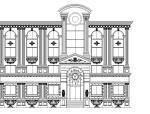 9个CAD欧式建筑外观.图纸