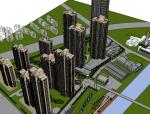 无锡盛高住宅高层建筑模型skp