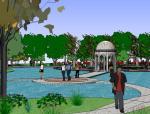 休闲居住区景观设计(su模型)