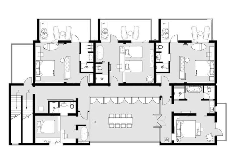 水泥厂改造成民宿,自然简约的设计就是这么美_40