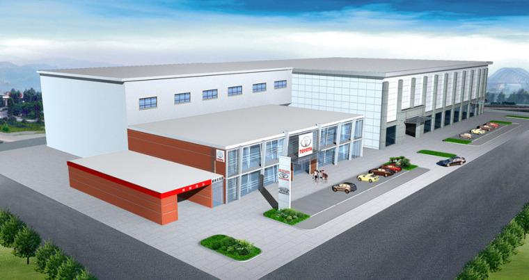 (原创)汽车4S店建筑外观设计案例效果图-4s店16