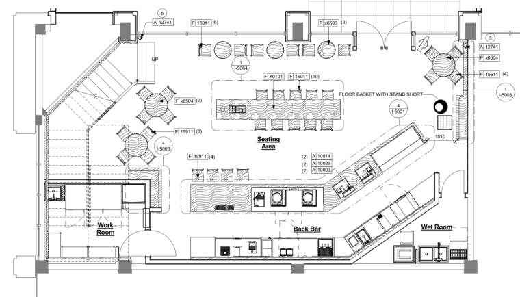 [杭州]星巴克-万塘汇店装修施工图CAD+PDF