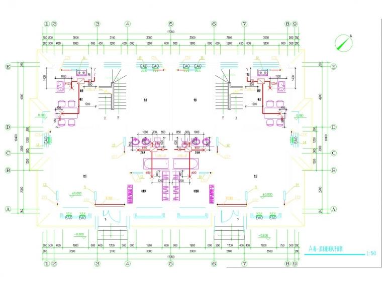 [国外]多层别墅采暖通风系统设计施工图