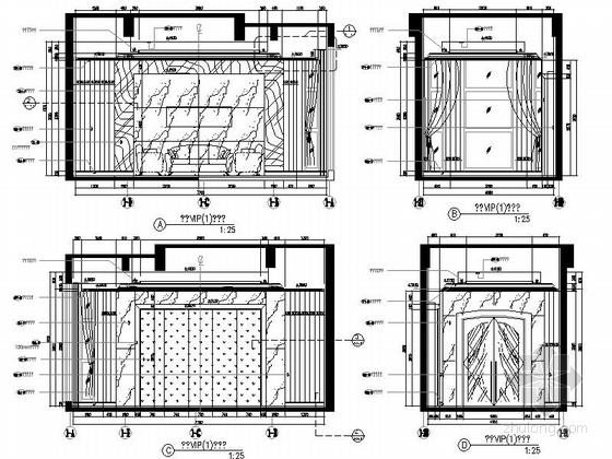 [成都]豪华四层商务会所室内装修图(含方案文本)立面