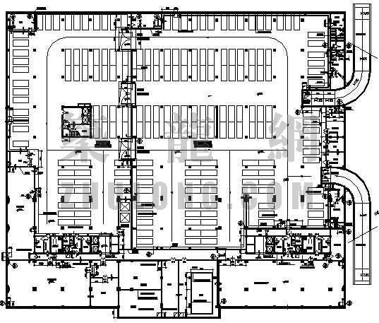 某高层建筑地下人防工程平面设计方案