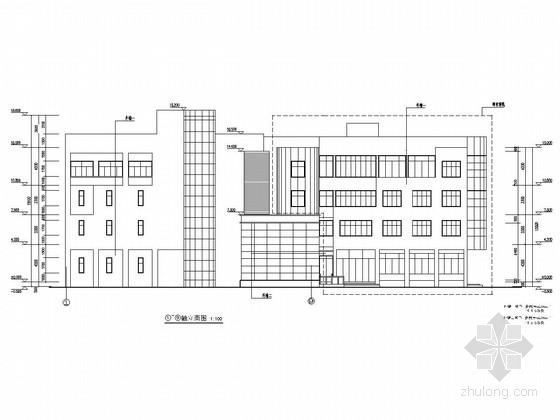 [上海]四层框架结构城建档案馆综合库房结构施工图(含建筑图)