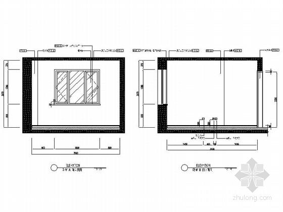 [沈阳]地产集团时尚现代三居室样板间装修图卧室立面图
