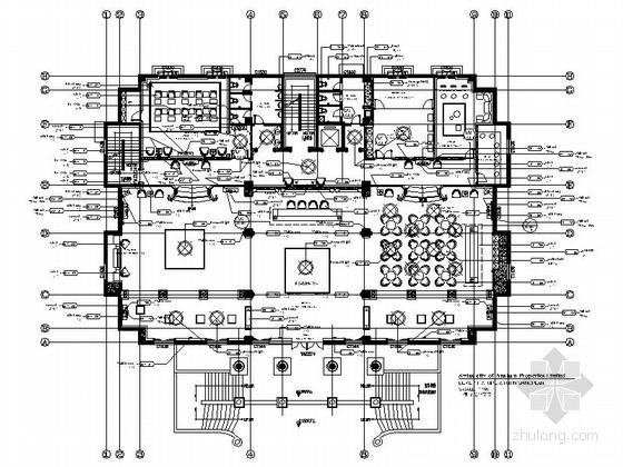 [鞍山]法式皇家园林小区售楼中心装修施工图(含效果图)