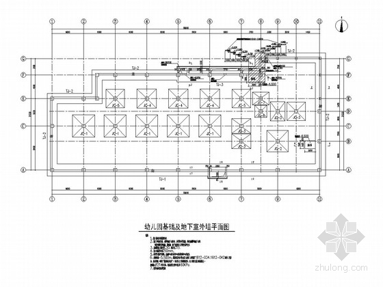 [北京]三层框架结构幼儿园结构施工图