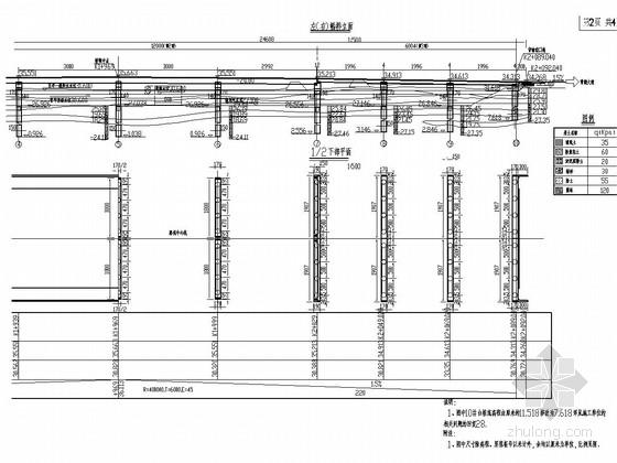 [湖南]1联4×30m等截面预应力连续梁桥及2联简支板桥工程竣工图89张(桥宽38米)