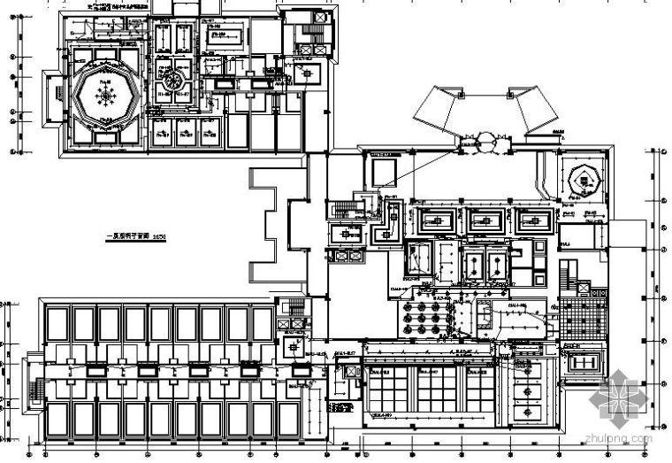 某三层四星级酒店强电平面图