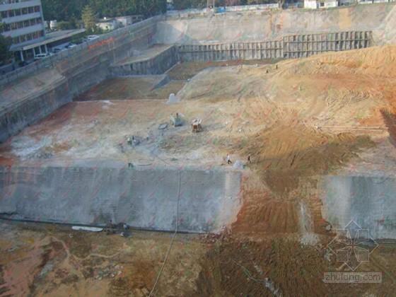 廉租房项目基坑土钉墙喷锚支护土方开挖施工方案