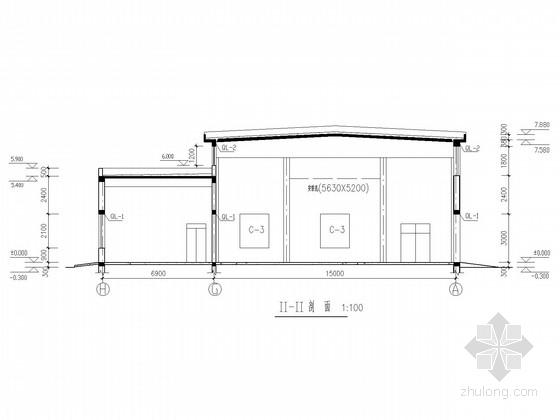 单层混合锅炉房结构施工图
