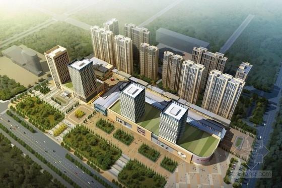 [黑龙江]超高层现代化玻璃幕墙式商业综合体建筑设计方案文本