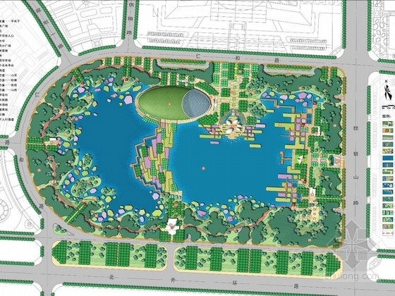 [山东]城市起步区中央公园、道路、水系景观设计方案(国内知名设计机构)