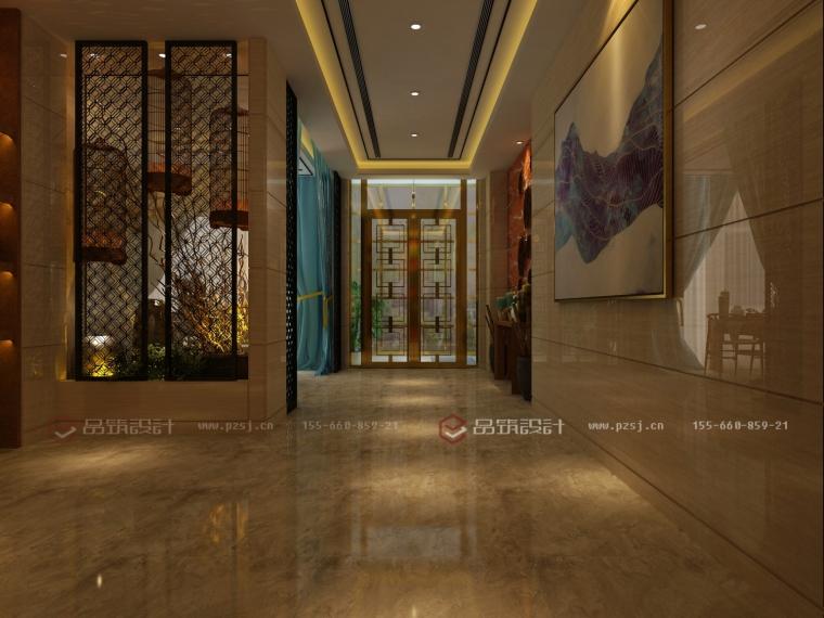 沈阳地产公司办公室设计效果图震撼来袭-3过廊.jpg