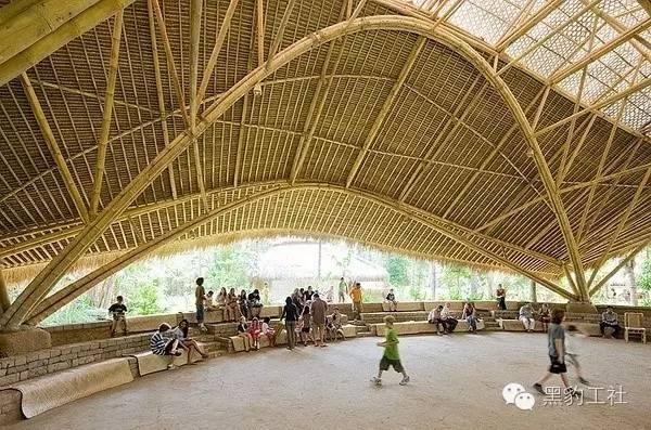 景观设计中的竹建筑案例浅析——巴厘岛上的竹子学校_7