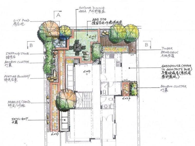133张别墅庭院景观&小尺寸节点景观手绘平面图图片