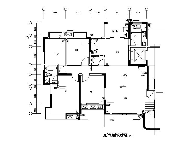 江西十八层小区住宅给排水全套施工图(含建筑、结构、电气)