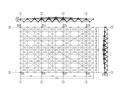 双层螺栓球玻璃屋面网架施工图(CAD、10张)