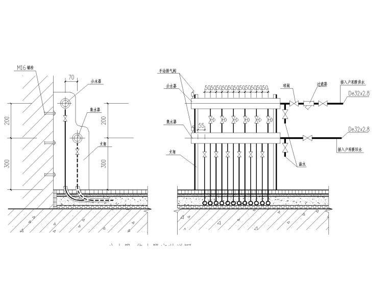 [陕西]柞水某十七层住宅楼暖通施工图(地板辐射加热盘管采暖系统)
