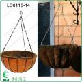 佛山泓江LD011014寸园艺铁艺花篮天然椰棕