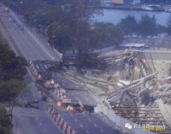 地铁基坑倒塌当天发生了什么?新加坡NicollHighway基坑倒塌纪实_20