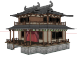 山西各种民居、戏楼、酒楼等17栋建筑模型