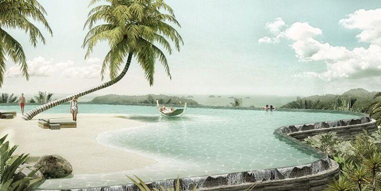 泰国苏梅岛酒店设计 把海滩搬上了山坡