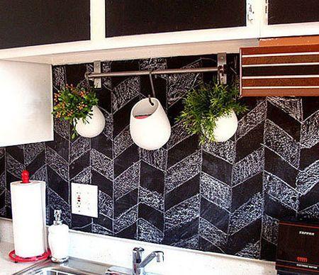 趣味又实用的黑板墙,涂涂写写一样美。_3