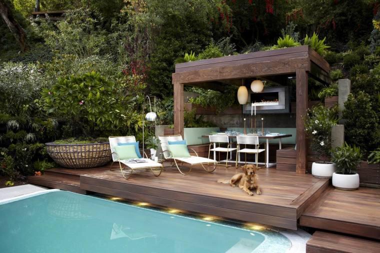 好莱坞度假庭院景观
