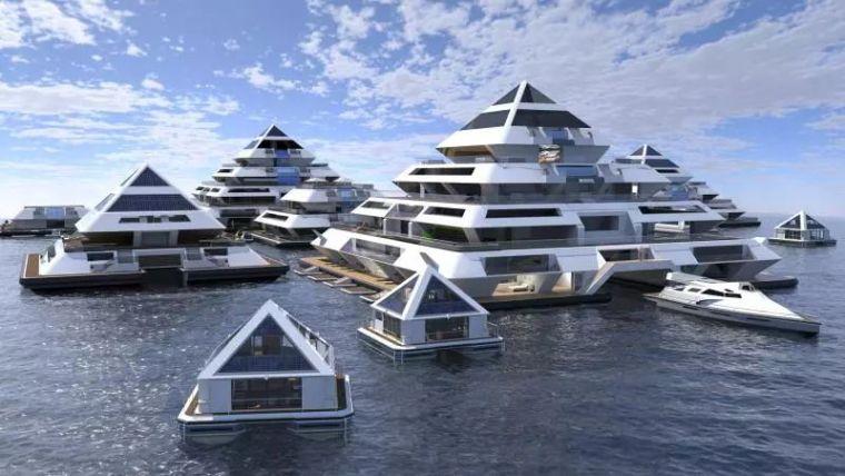 坐着飞碟回家的未来水上城市_10