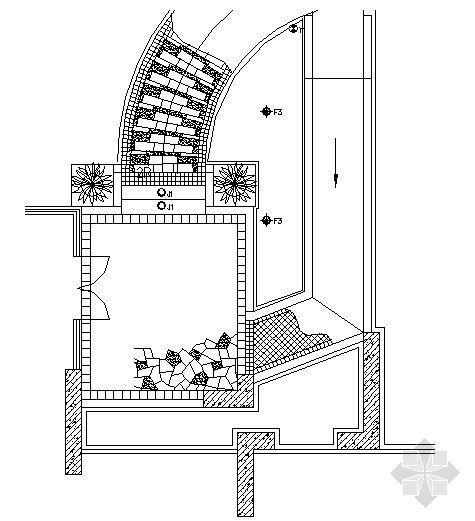 楼入口铺装做法详图2