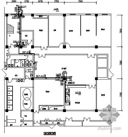 某会所职工食堂室内燃气图纸