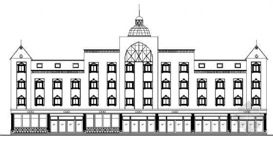 某保险公司四层办公楼建筑方案图