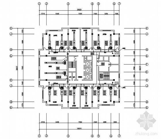 某欧式办公楼中央空调图