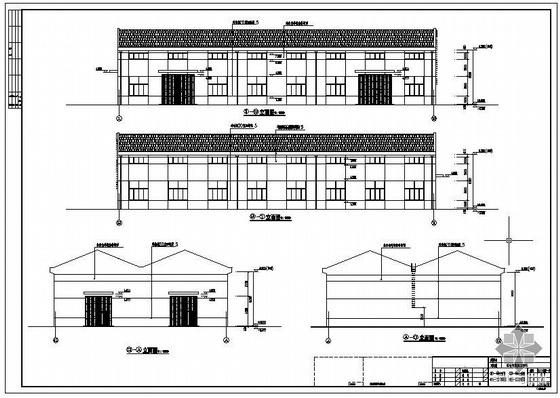 某塑料制品三角形屋架排架厂房建筑结构设计图(含PKPM计算模型)