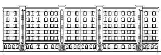 一层商用的某六层商住公寓建筑施工图
