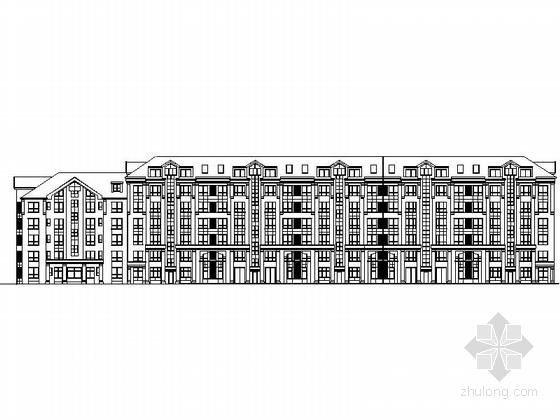 新古典住宅区规划立面图
