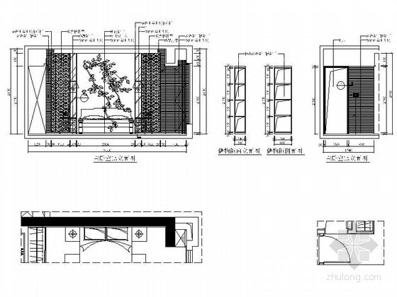[福州]名事务所大四居样板间室内装修图 卧室立面